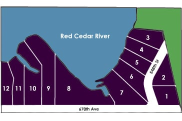 Red Cedar Bend Menomonie Development Map